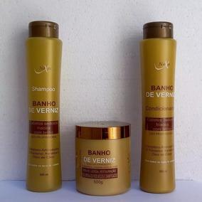 Kit Banho De Verniz: Máscara, Shampoo E Condicionador Naxos