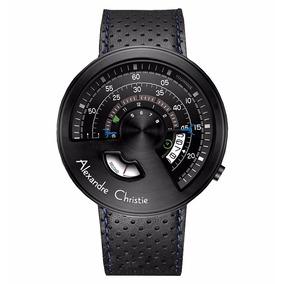 Reloj Alexandre Christie Elegant Date Piel 8516mslipba