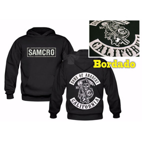 Canguru Bordado Samcro Sons Of Anarchy Moletom Blusa Moleton