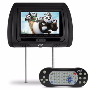 Encosto Cabeca Banco Carro C/ Leitor Dvd E Cd Jogos Controle