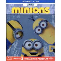 Bluray + Dvd Minions Steelbook ( 2015 ) Kyle Badda & Pierre