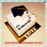 Torta De Graduación Con Birrete, Decorado Con Masa Elástica