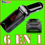 Receptor Bluetooth Carro Fm Musica Auto Cargador Transmisor