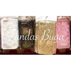 Funda Iphone 6 7 6s Mandala Case Protector Rosa Negro Carcas