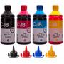 Kit 2 Litros Refil Tinta Impressora L355 L365 L375 L395