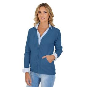 Cárdigan Sweater Con Bolsillos De Mujer Mauro Sergio