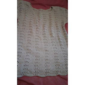 Remera Dama Tejida A Mano Al Crochet Retro Vintage