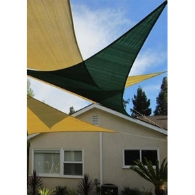 Malla Triangular 5.0 M X 5.0mx 5.0 Verde O Crudo Herracor