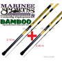 Kit Vara Telescópica Para Pesca Bamboo Bambu 2,10 + 2,40 M