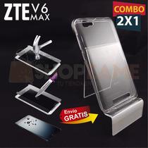 Funda Protector Transparente + Cristal Zte Blade V6 Max