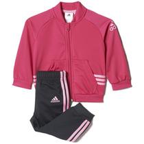 Conjunto Pants Con Sudadera Sport Shiny Niña Adidas Ak2594