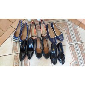 Lote 6 Sapatos Scarpin Anabela Tam35-36 Arezzo-beira Rio