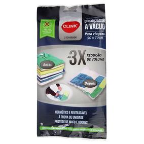 Organizador A Vácuo Para Viagem Plástico 50x70cm - Clink