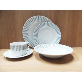 Aparelho Jogo De Jantar Krea Tecnologico 20 Peças Porcelana