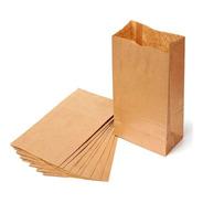 50 Bolsas Papel Madera (25x15x30 Cm) Delivery Compostables
