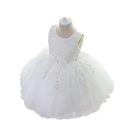 Vestido Blanco Ivory Bautizo Cumpleaños Tutú Boda Envio Grat