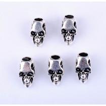 Skull Bead, Caveira, Crânio De Metal Para Paracord
