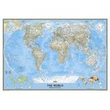 Planisferio En Cuadro - Mapamundi - Decoración