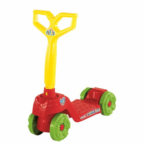 Patinete Mini Scooty Calesita Brinquedo Vermelho
