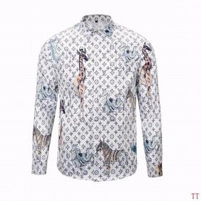 Camisa Para Hombre Caballero Louis Vuitton Animals Blanca