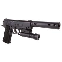 Pistola Tactical Co2 Lasser Y Silenciador 40005 Ecom