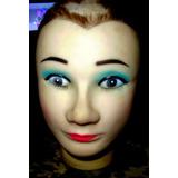 Cabeza Manequi Anteojos Sombreros Maquillaje Vitrina