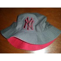Gorro Tipo Bucket Hat Gorra Yankees New York Mlb Nuevo Gris