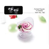 Mini Vasitos Vasos Shots Acrilico Plastico Dulce Cucharitas