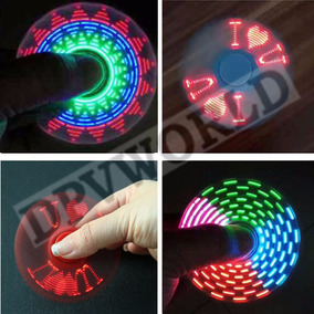 Fidget Spinner Figuras Luces Led Love You Corazon Antiestres