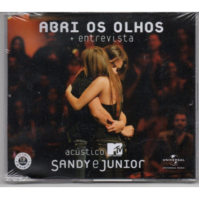 Sandy E Junior - Abri Os Olhos + Entrevista Cd Single Promo