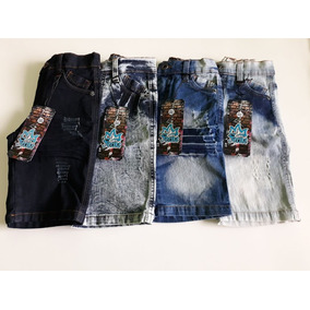 Short Infantil Jeans De Lycra, P-m-g-gg Masculino, Barato