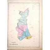 Antiguo Mapa Del Departamento De Cajamarca, 1865