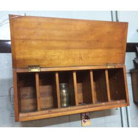 Repisa Original Retro Vintage Con Puerta Rebatible