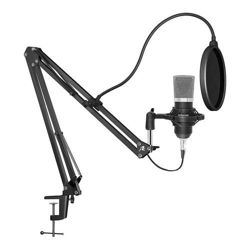 Micrófono Redlemon 79807 condensador unidireccional y cardioide negro