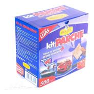 Kit Fibra De Vidrio Parche 500 Gr Resina+pincel+lijas+guante