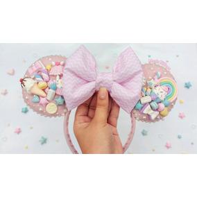 Tiara Orelhas Minnie Fairy Kei Pastel Disney Kawaii
