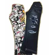 Calça Leg Da Lilica Ripilica E Jeans Preta Tam 1 E 2 - Nova
