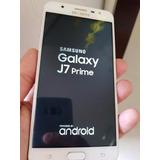 Celular J7 Prime Dourado Samsung Galaxy 32g Usado S/ Defeito