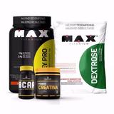 Whey + Bcaa + Creatina + Dextrose - Max Titanium Choco