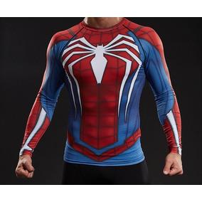 Remera Spiderman Hombre Araña Sony Ps4 Marvel Compresion