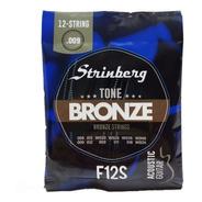 Encordoamento 12 Cordas Violão Strinberg Aço F12-s Bronze