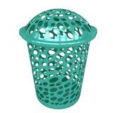 Cesto De Plastico Redondo 45 Lts Verde Agua, Garden Life