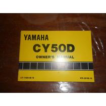 Yamaha Jog Cy50d 1991 Manual Del Usuario Japon Impecable
