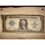 Antiguo Billete De 1 Dolar - Usa - Sello Azul -