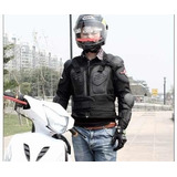 Kit Proteção Lombar Motociclista, Joelheira E Luva De Couro.