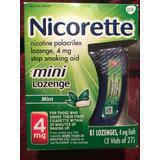 Nicorette Mini Lozenge Pastilla Sabor Menta 4mg Dejar Fumar
