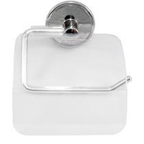 Papeleira Porta Papel Higiênico Com Fixação Adesiva Cromo