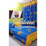 Kit Cubrelecho + Sábanas + Cortinas Cama Doble Barcelona