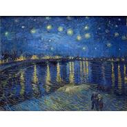 Poster Hd Van Gogh 65cmx100cm Noite Estrelada Sobre O Ródano