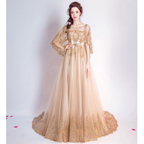 Vestido De Debutante Dourado 34 36 38 40 42 44 46 - Va00428